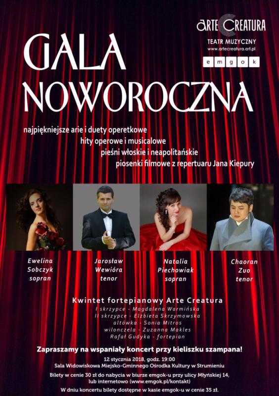 Gala Noworoczna emgok plakat