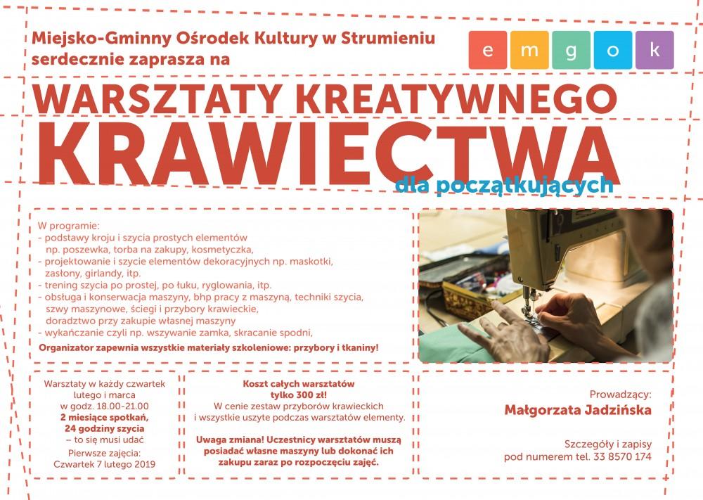 Plakat zapisy krawiectwo 2019(1)