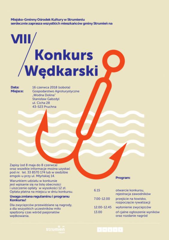 konkurs wędkarski 2018 plakat A3